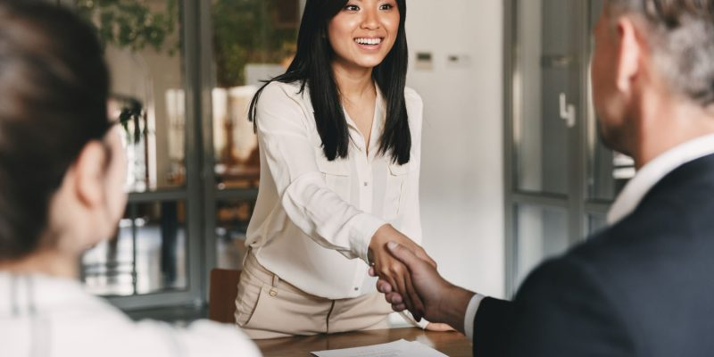 Asian Woman For Successful Interview